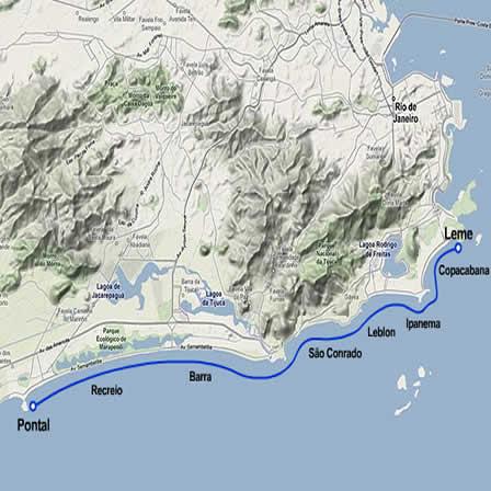 Mapa do Leme ao Pontal